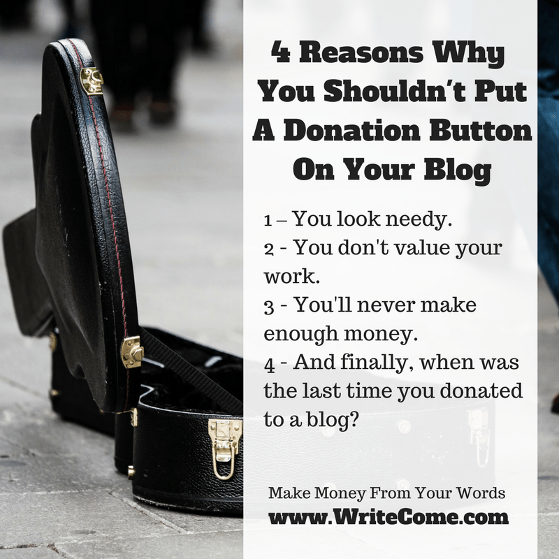 4 Reasons Why You Shouldn't Put A Donation Button On Your Blog