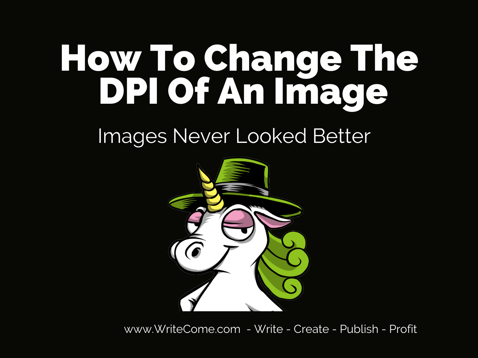 How To Change The DPI Of An Image