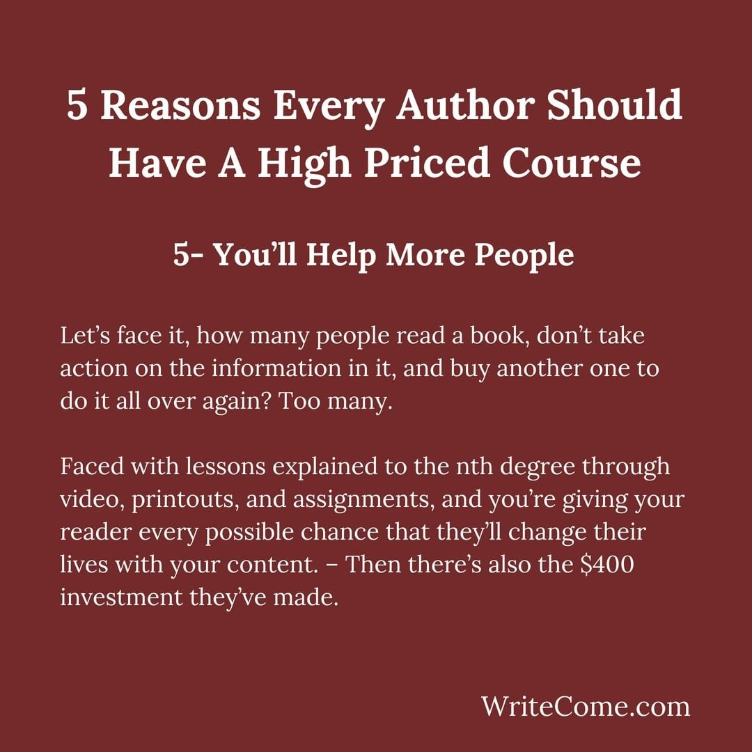 You Need  a High Priced Course, Here's Why...