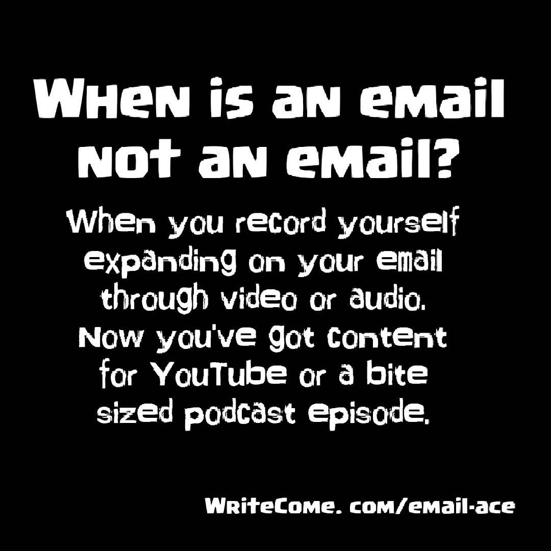 When Is An Email Not An Email?