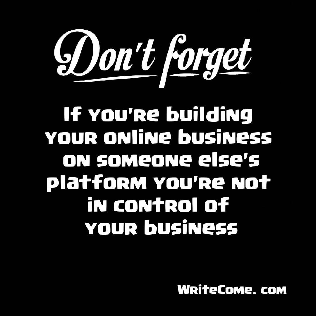 Are You Building Your Own Platform Or Someone Else's?