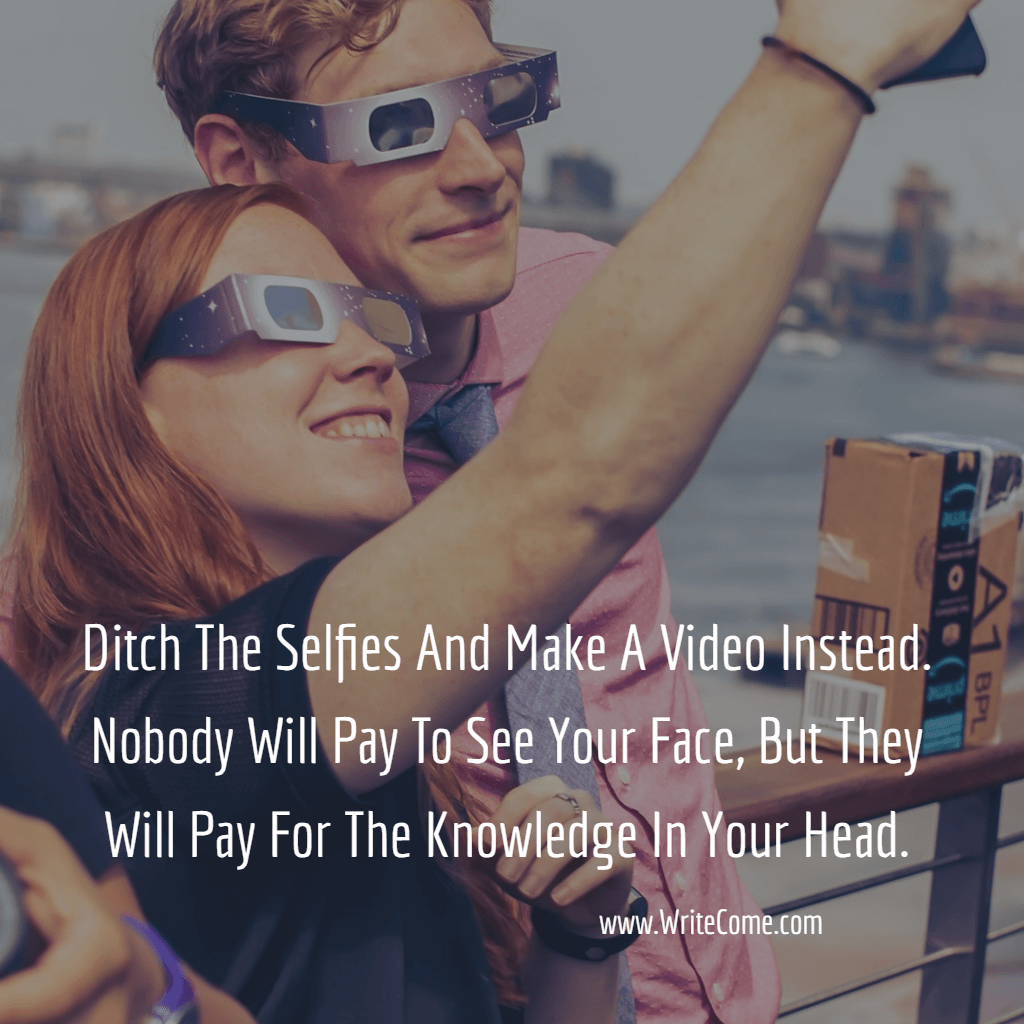 Ditch The Selfies...