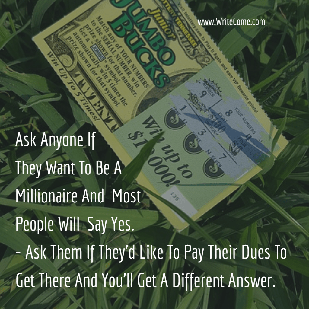 Afraid To Pay Your Dues?....