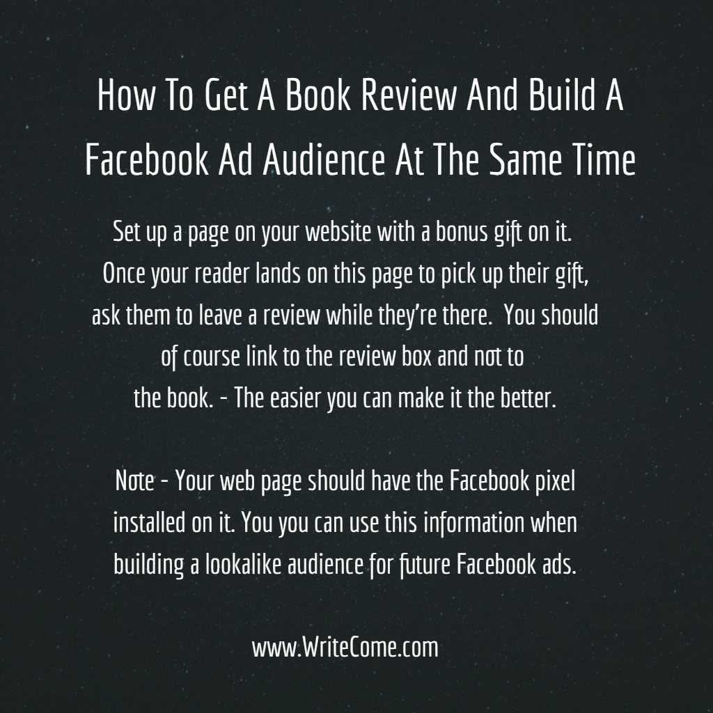 How To Get Book Reviews And Build A Facebook Lookalike Audience
