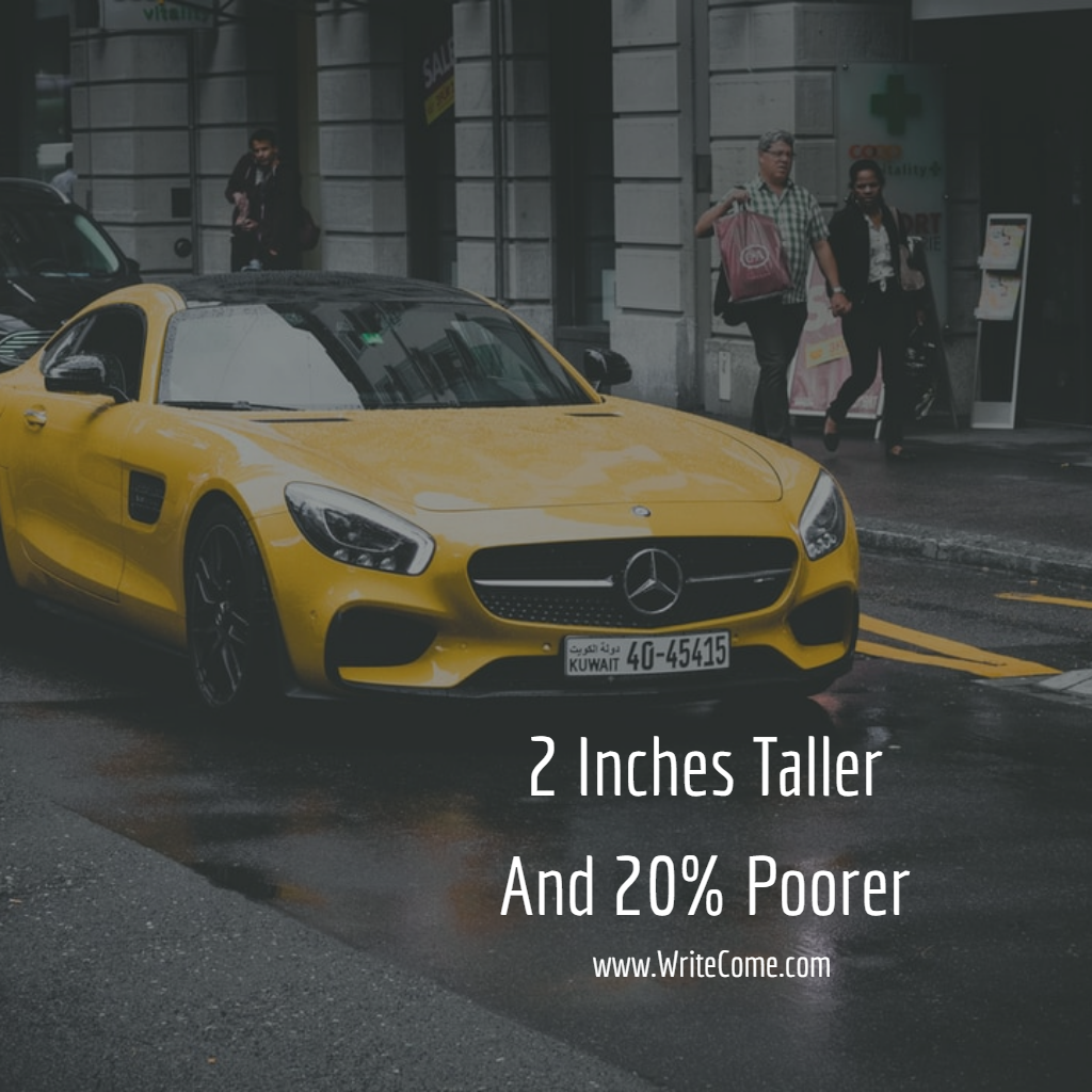 2 Inches Taller And 20% Poorer