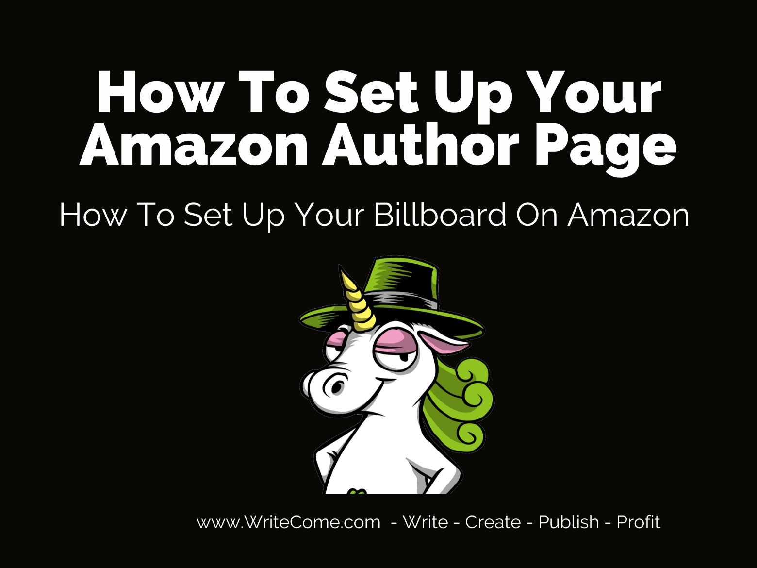 How To Set Up An Amazon Author Page